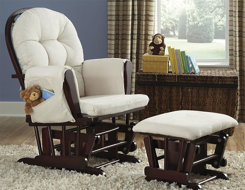 : rocking chair with ottoman for nursery - Cheerinfomania.Com