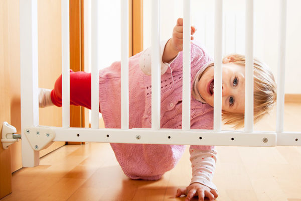 baby with gate