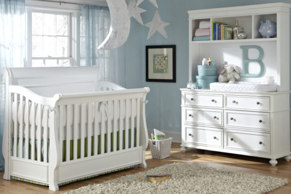 beautiful baby crib in nursery
