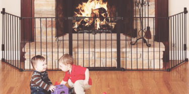 how to baby-proof your fireplace